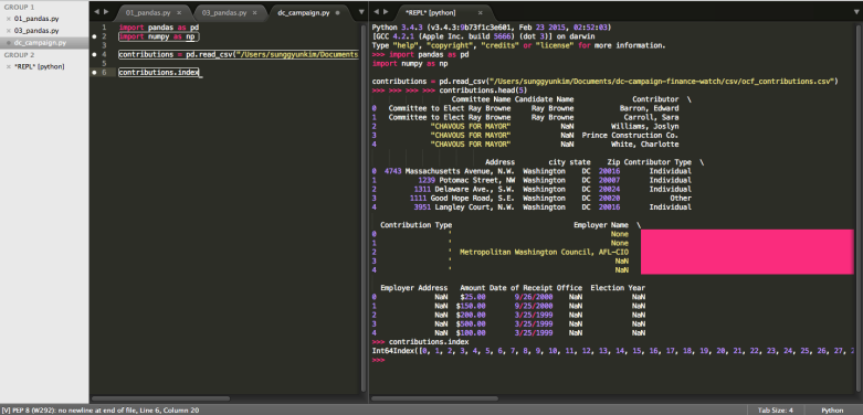 Sublime with Python REPL
